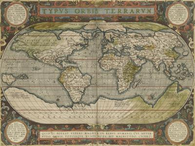 Antique World Map 36x48 by Vision Studio
