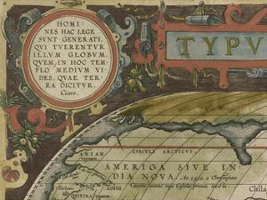 Antique World Map Grid I by Vision Studio