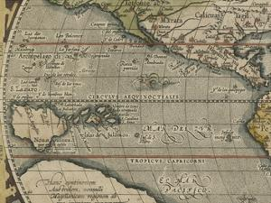 Antique World Map Grid IV by Vision Studio