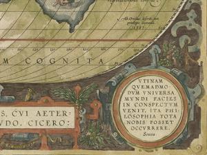 Antique World Map Grid IX by Vision Studio
