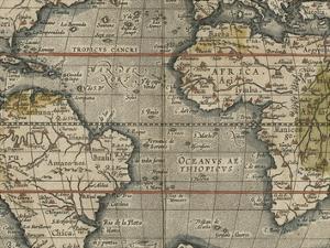 Antique World Map Grid V by Vision Studio