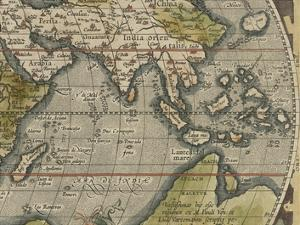 Antique World Map Grid VI by Vision Studio