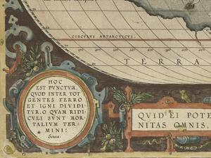 Antique World Map Grid VII by Vision Studio