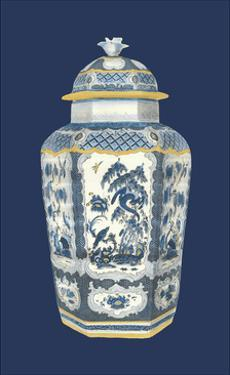 Asian Urn in Blue and White II by Vision Studio