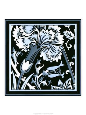 Blue and White Floral Motif I by Vision Studio
