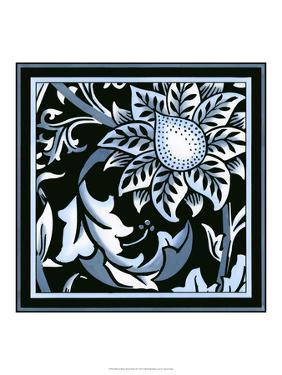 Blue and White Floral Motif II by Vision Studio