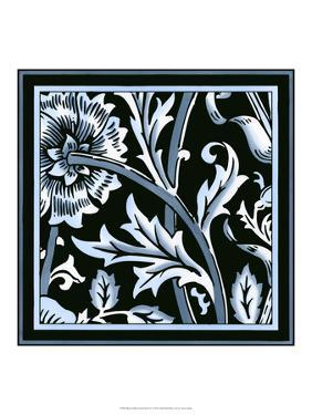 Blue and White Floral Motif IV by Vision Studio