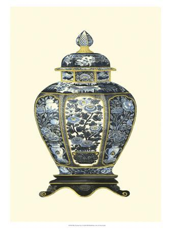 Blue Porcelain Vase I by Vision Studio