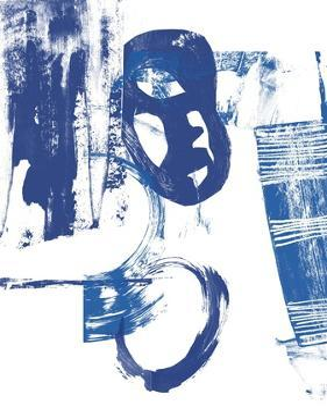 Blue Scribbles II by Vision Studio