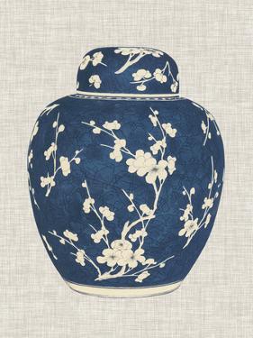 Blue & White Ginger Jar on Linen I by Vision Studio