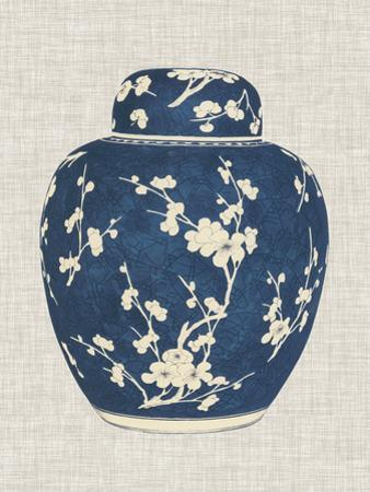 Blue & White Ginger Jar on Linen I by Vision Studio
