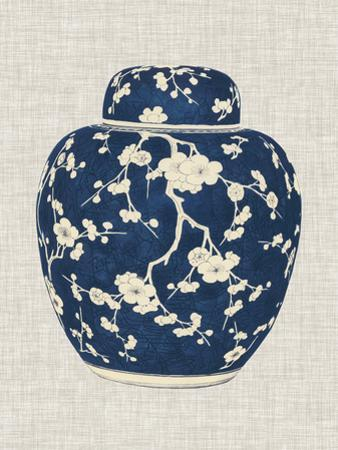 Blue & White Ginger Jar on Linen II by Vision Studio