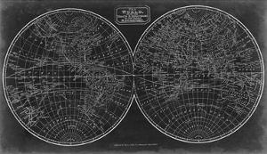 Blueprint of the World in Hemispheres by Vision Studio