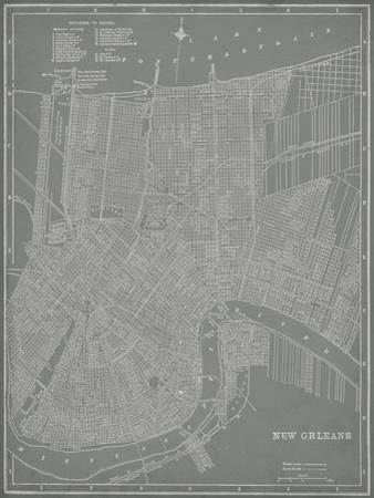 City Map of New Orleans