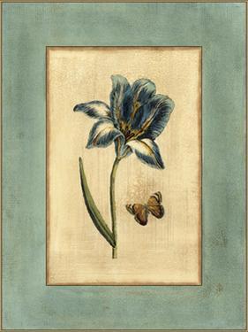 Crackled Spa Blue Tulip I by Vision Studio