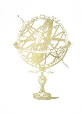 Gold Foil Armillary Sphere I by Vision Studio