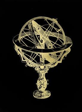 Gold Foil Armillary Sphere II on Black by Vision Studio