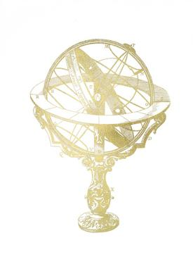 Gold Foil Armillary Sphere II by Vision Studio