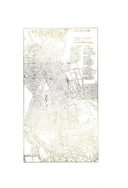 Gold Foil City Map Boston by Vision Studio