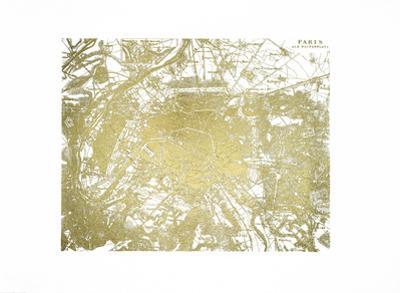 Gold Foil Maps I by Vision Studio