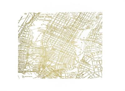 Gold Foil Maps II by Vision Studio
