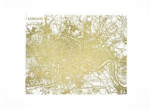 Gold Foil Maps IV by Vision Studio