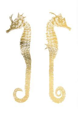 Gold Foil Seahorses by Vision Studio