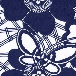 Indigo Floral Katagami I by Vision Studio