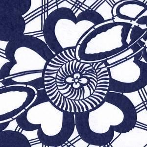 Indigo Floral Katagami II by Vision Studio
