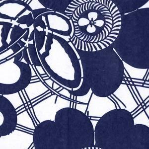 Indigo Floral Katagami III by Vision Studio