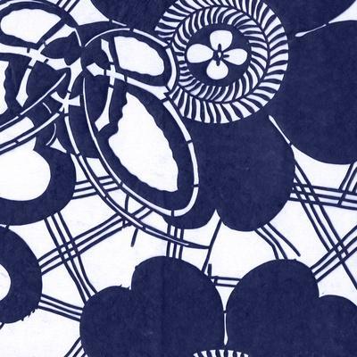 Indigo Floral Katagami III