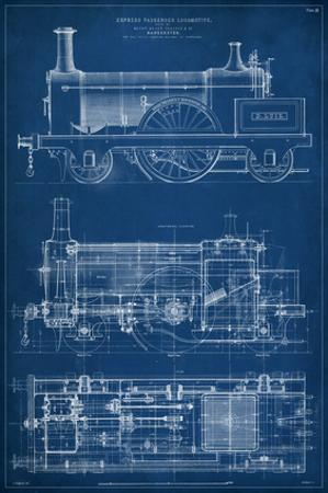 Locomotive Blueprint I by Vision Studio