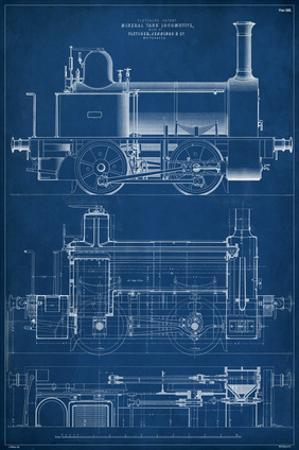 Locomotive Blueprint II by Vision Studio