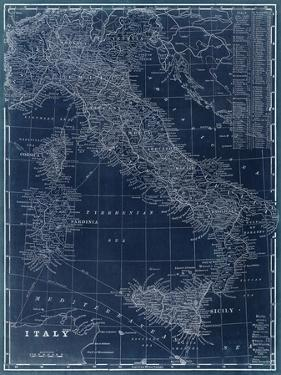 Map of Italy Blueprint by Vision Studio