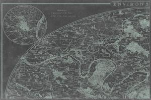 Map of Paris Grid I by Vision Studio