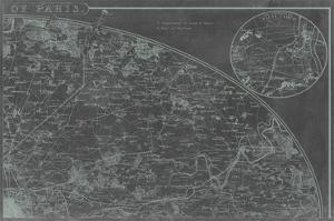 Map of Paris Grid II by Vision Studio