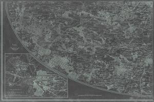 Map of Paris Grid III by Vision Studio