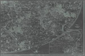 Map of Paris Grid IV by Vision Studio