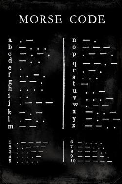 Morse Code Chart by Vision Studio