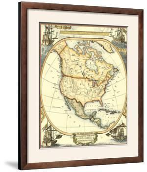 Nautical Map of North America by Vision Studio