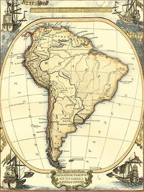 Nautical Map of South America by Vision Studio