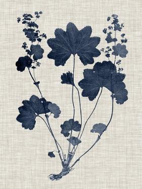 Navy & Linen Leaves III by Vision Studio