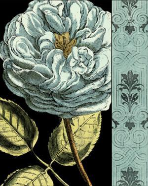 Nouveau Floral in Blue IV by Vision Studio