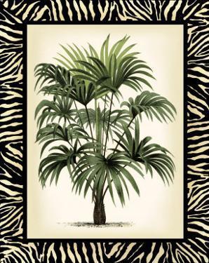Palm in Zebra Border I by Vision Studio