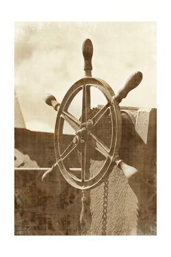Sepia Ship's Wheel I by Vision Studio
