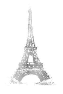 Silver Foil Eiffel Tower by Vision Studio