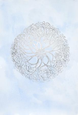 Silver Foil Ocean Gems I on Blue Wash by Vision Studio