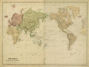 The World on Mercators Projection by Vision Studio