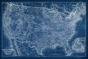 US Map Blueprint by Vision Studio