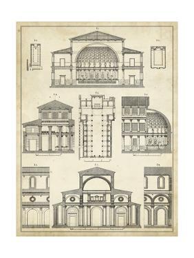 Vintage Architect's Plan I by Vision Studio